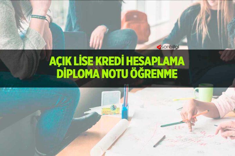 Açık Lise Diploma Notu Hesaplama
