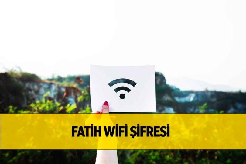 Fatih Wifi Şifresi 2021